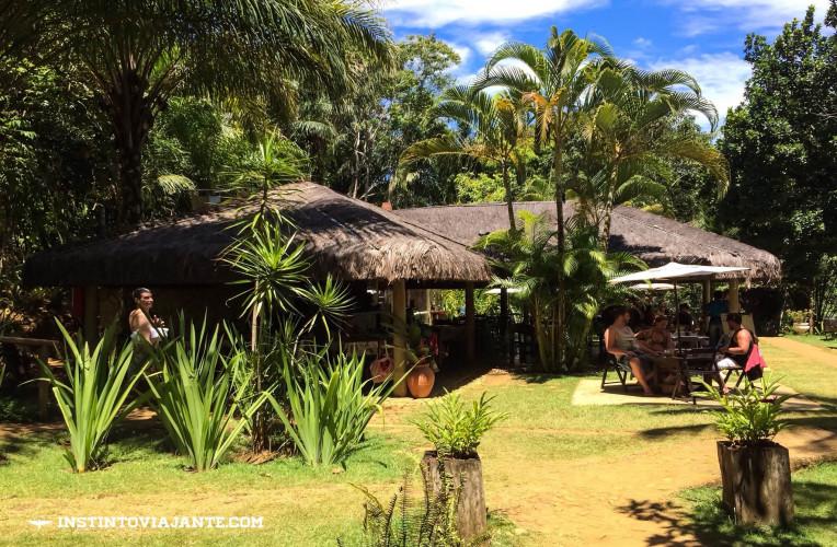 Restaurante Magia Tropical - opção se você deseja passar o dia todo na cachoeira.