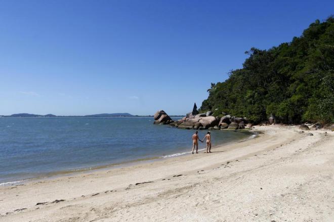 A pequena praia de Pedras Altas, em Palhoça, Santa Catarina. Foto: dc.clicrbs.com.br/sc.