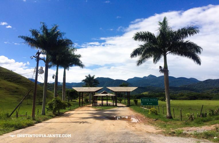 Portal de entrada de Aldeia Velha-RJ.