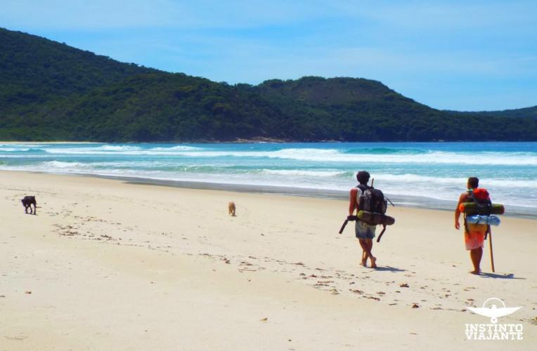 Caminhada após o mangue, já na Praia de Leste, Ilha Grande/RJ