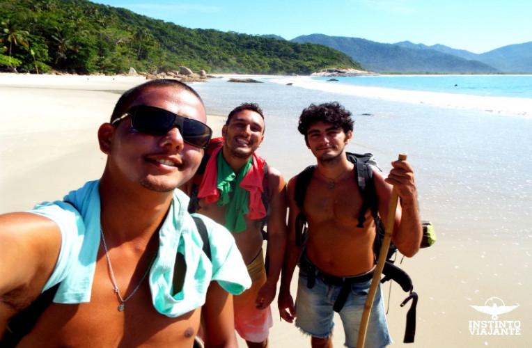 Amigos pelo caminho, em Ilha Grande/RJ