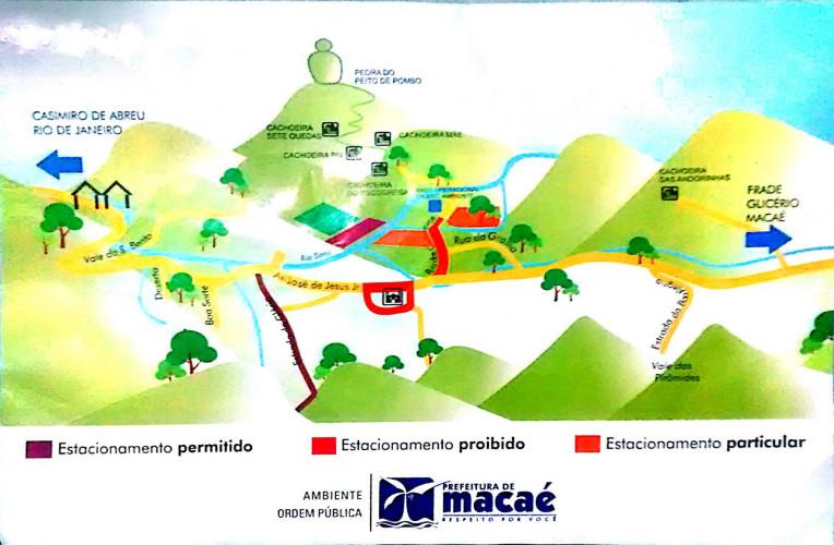 Mapa Sana-RJ. Fonte: Prefeitura de Macaé.