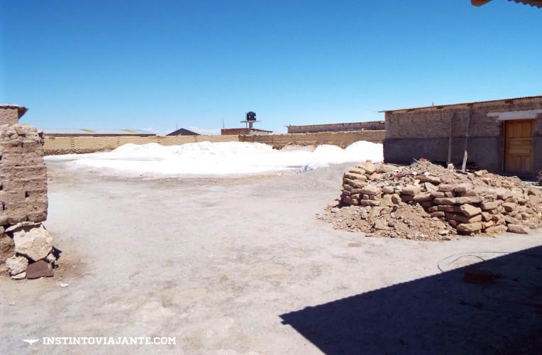 Monte de sal em Colchani | Dia 1 no Deserto de Sal