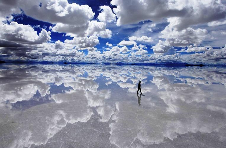 Salar de Uyuni alagado. Foto: auratur.com.br.