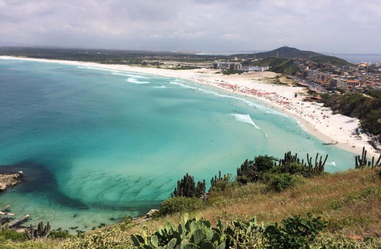 Vista aérea da Praia Grande em Arraial do Cabo-RJ