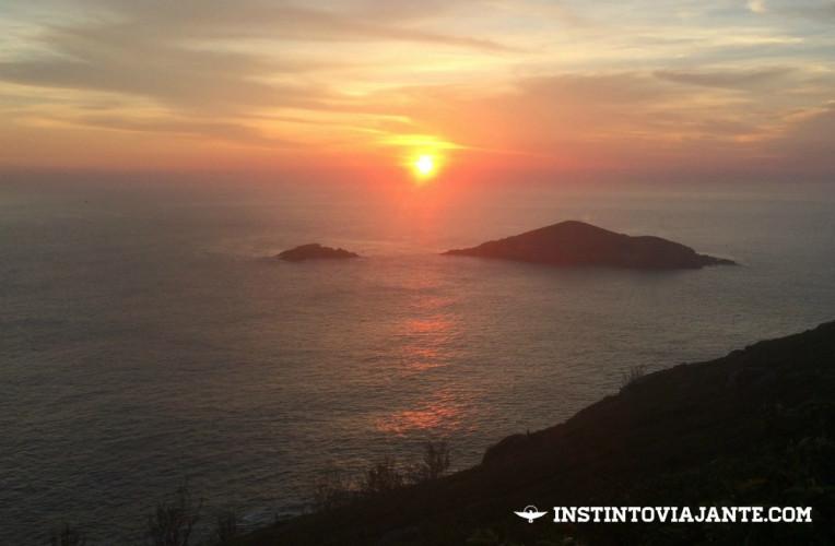 Por do sol no Pontal do Atalaia, Arraial do Cabo, RJ.