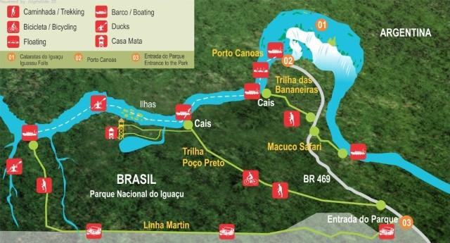 mapa cataratas do iguacu foz brasil1