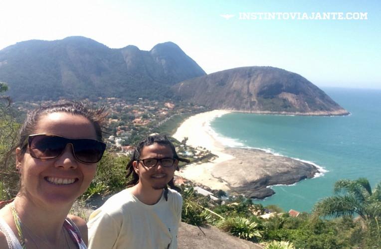 Mirante 1: praia de Itacoatiara e Costão.