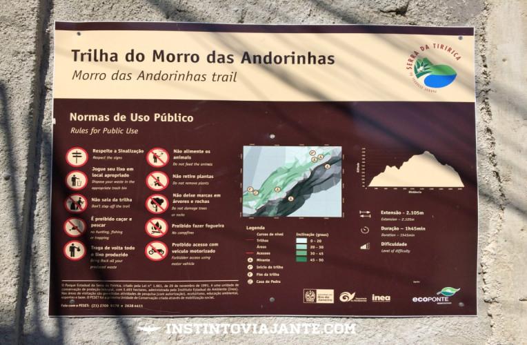 Vista da trilha do Morro das Andorinhas, em Itaipú, Niterói.