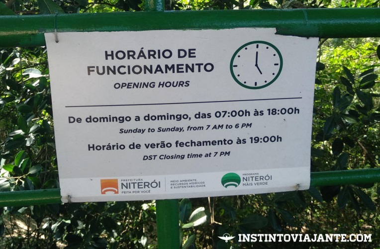 Horário de entrada do Parque da Cidade de Niterói