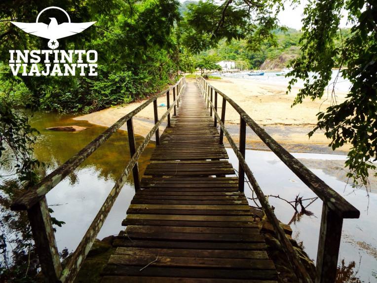 Ponte chegando na Praia de Matariz, em Ilha Grande/RJ