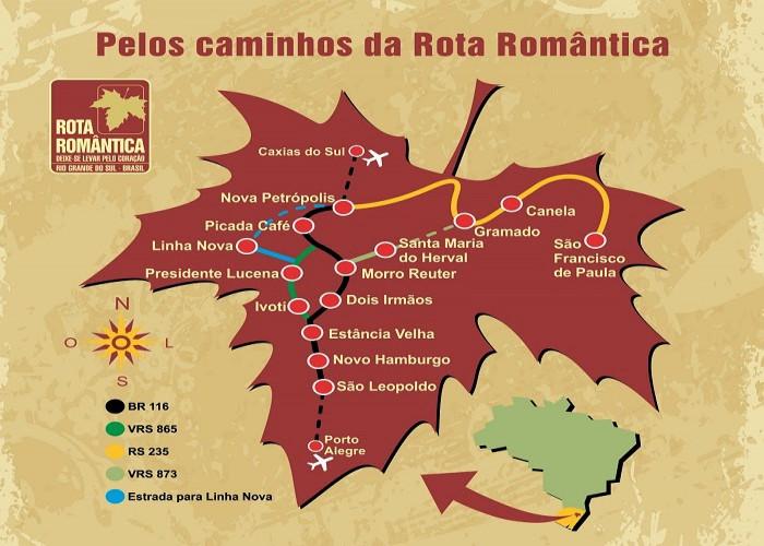 mapa romântica dia dos namorados