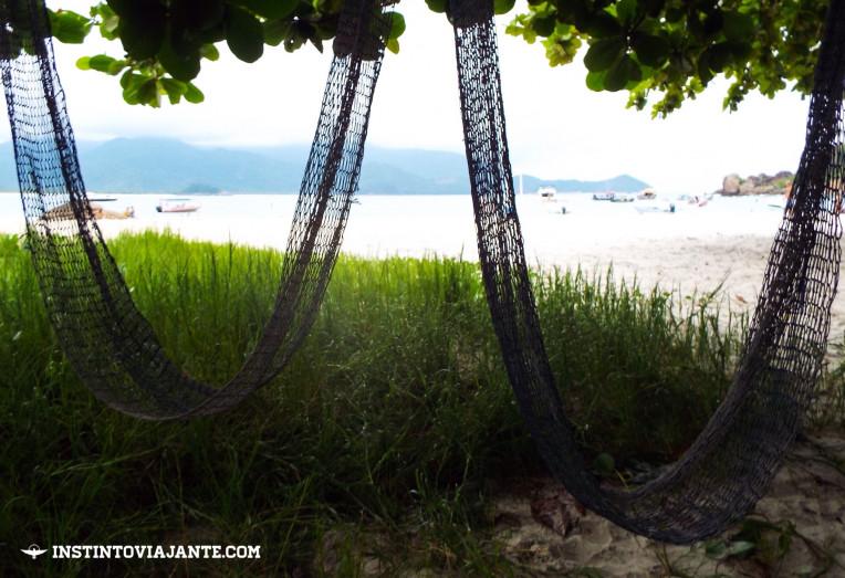 Redes do Camping do Ferreira, em Aventureiro, Ilha Grande/RJ