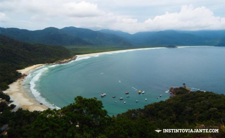 Vista do Mirante do Sundara – praias de Aventureiro, Demo e Sul, em Ilha Grande, RJ, Brasil