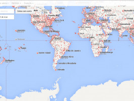 Mapa Google Flight
