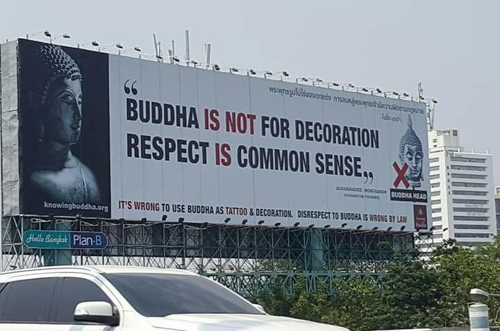 Outdoor Buda não é decoração na Tailandia