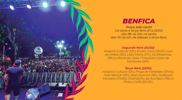 Carnaval Fortaleza 2020 Agenda Shows Programação Polos