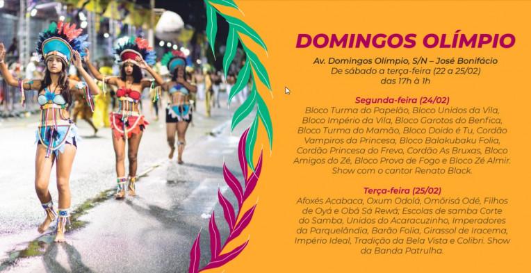 Carnaval Fortaleza 2020 Programação Shows Agenda Polos