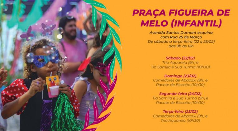 Carnaval Fortaleza 2020 CE Programação Shows Agenda Polos