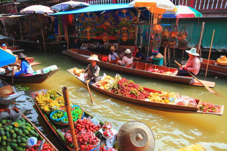 O que fazer em Bangkok - Tailandia - Mercados flutuantes de Bangkok