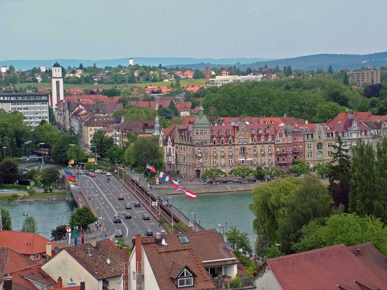 Vista da cidade universitária de Konstanz