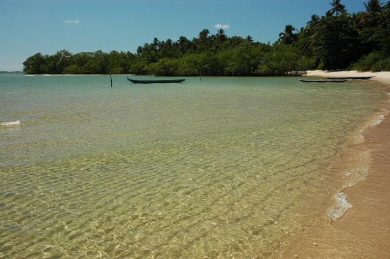 Praia de Moreré, na Ilha de Boipeba, na Bahia