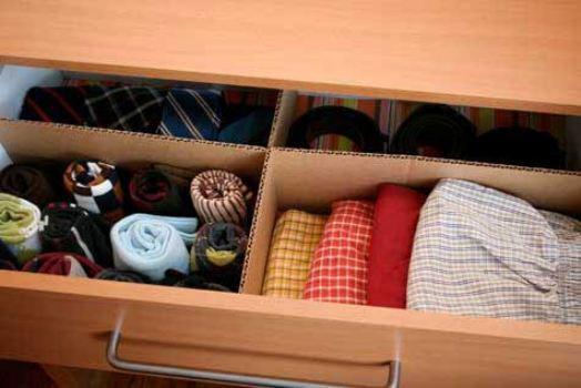 Dicas para organizar gaveta de roupas