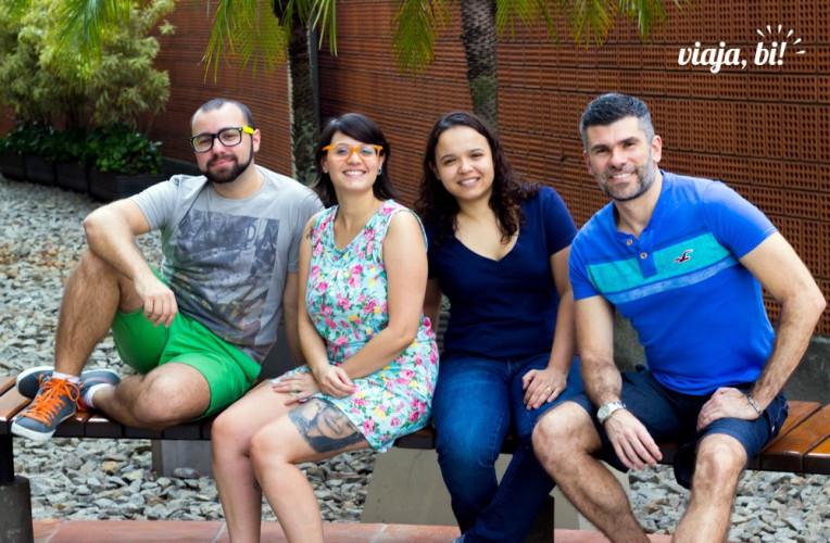 Equipe do site de turismo LGBT Viaja, Bi!