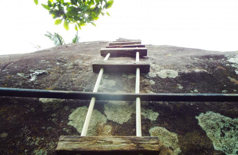 Subida para o Mirante do Espia, Aventureiro, Ilha Grande/RJ