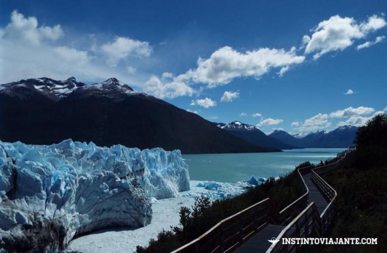 Glaciar Perito Moreno no fim de tarde