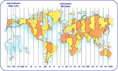 mapa fuso horario