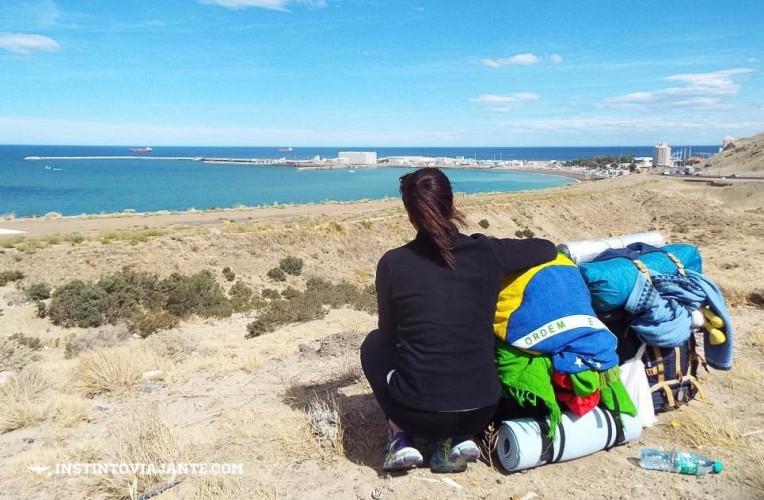 Vista de Comodoro Rivadavia, Argentina