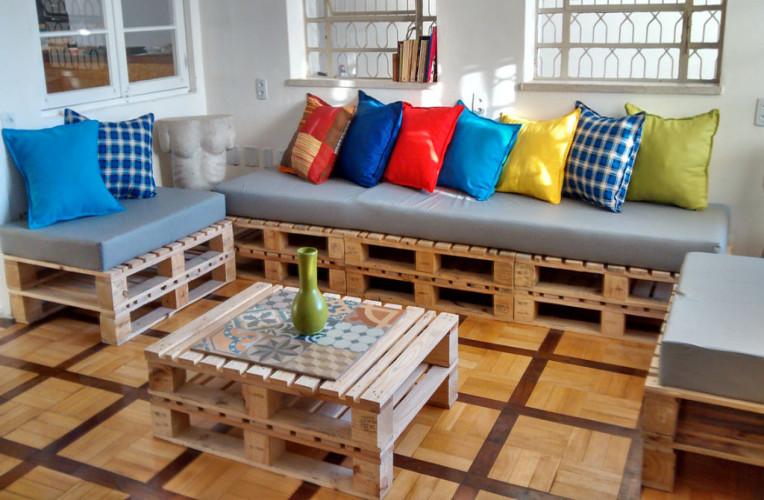 Espaço comum em um hostel. Foto: solar63hostel.com.br