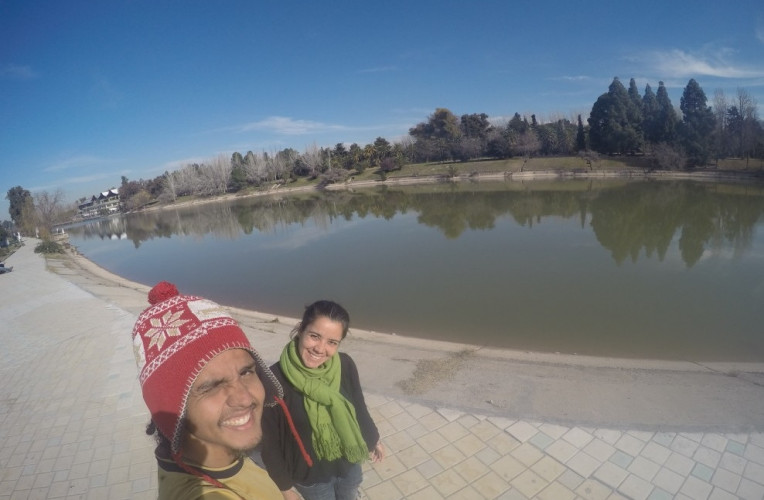 Lago do Parque General San Martin, em Mendoza, Argentina - Instinto Viajante